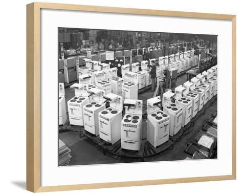 Quality Checking Cookers at the Gec Plant, Swinton, South Yorkshire, 1960-Michael Walters-Framed Art Print