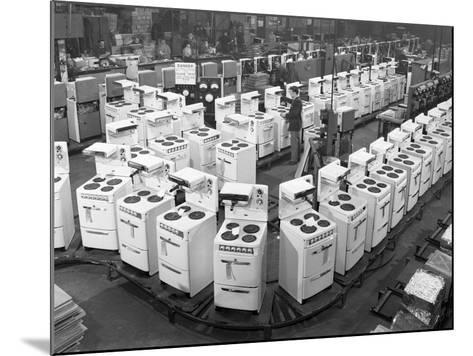 Quality Checking Cookers at the Gec Plant, Swinton, South Yorkshire, 1960-Michael Walters-Mounted Photographic Print