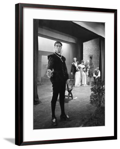 Production of Shakespeares Twelfth Night, Worksop College, Derbyshire, 1960-Michael Walters-Framed Art Print