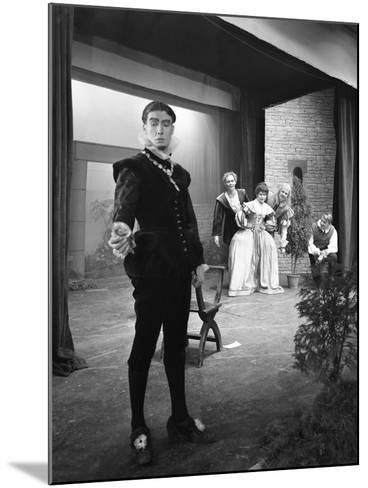 Production of Shakespeares Twelfth Night, Worksop College, Derbyshire, 1960-Michael Walters-Mounted Photographic Print