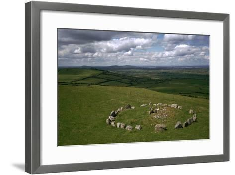 View of Cairn S in the Loughcrew Hills-CM Dixon-Framed Art Print