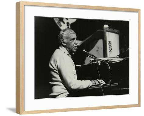 Buddy Rich Playing the Piano, Forum Theatre, Hatfield, Hertfordshire, November 1986-Denis Williams-Framed Art Print