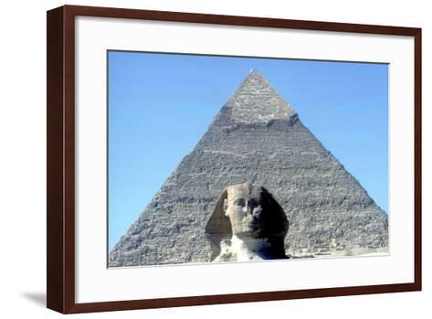 The Sphinx and Pyramid of Khafre (Chephren), Giza, Egypt, 4th Dynasty, 26th Century Bc-CM Dixon-Framed Art Print