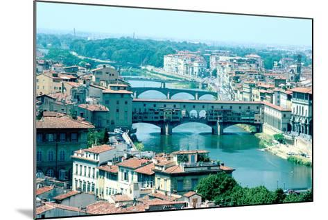 River Arno and Ponte Vecchio from Piazzale Michelangelo, Florence, Italy-Peter Thompson-Mounted Photographic Print