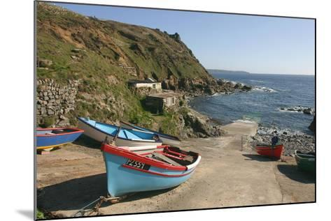 Boats on the Slipway at Cape Cornwall, Cornwall-Peter Thompson-Mounted Photographic Print