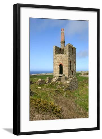 Higher Bal Mine Engine House, Cornwall-Peter Thompson-Framed Art Print