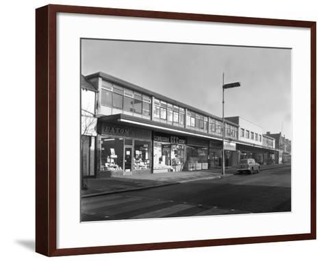 High Street Shopping, Goldthorpe, South Yorkshire, 1961-Michael Walters-Framed Art Print