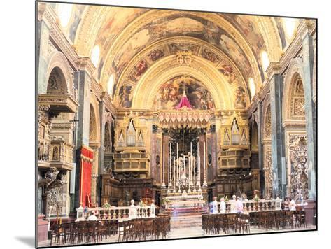 Interior of St Johns Co-Cathedral, Valletta, Malta-Peter Thompson-Mounted Photographic Print