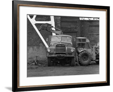 A Bedford 7 Ton Tipper Being Loaded at Rossington Colliery, Near Doncaster, 1963-Michael Walters-Framed Art Print