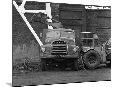 A Bedford 7 Ton Tipper Being Loaded at Rossington Colliery, Near Doncaster, 1963-Michael Walters-Mounted Photographic Print