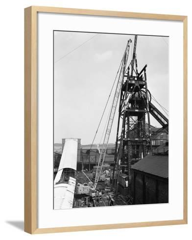 Heavy Lifting Gear at Hickleton Main Pit, Thurnscoe, South Yorkshire, 1961-Michael Walters-Framed Art Print