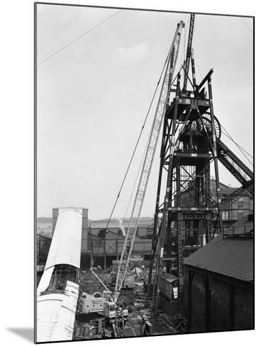 Heavy Lifting Gear at Hickleton Main Pit, Thurnscoe, South Yorkshire, 1961-Michael Walters-Mounted Photographic Print