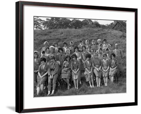 Women from the Ici Powder Works in a Group Photograph, South Yorkshire, 1962-Michael Walters-Framed Art Print