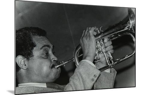 Art Farmer on the Flugelhorn at the Bell, Codicote, Hertfordshire, 25 February 1985-Denis Williams-Mounted Photographic Print