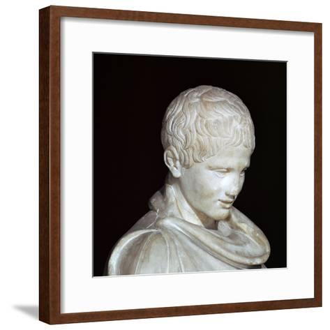 Hellenistic Marble Statue of a Young Athlete from Aydin, 1st Century Bc-CM Dixon-Framed Art Print