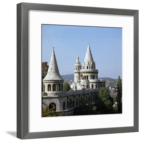 The Fishermans Bastion on Castle Hill in Budapest-CM Dixon-Framed Art Print