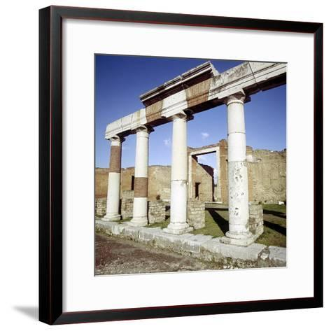 Columns of the Colonnade Round the Forum, Pompeii, Italy-CM Dixon-Framed Art Print