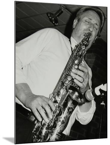 Saxophonist Peter King Playing at the Fairway, Welwyn Garden City, Hertfordshire, 14 April 1991-Denis Williams-Mounted Photographic Print