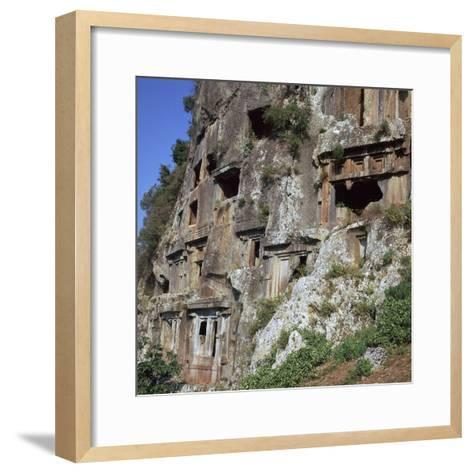 Rock-Cut Tombs in Telmessos Lykian, 4th Century Bc-CM Dixon-Framed Art Print