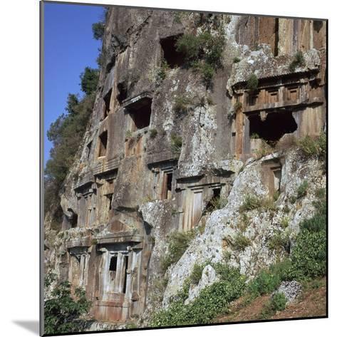 Rock-Cut Tombs in Telmessos Lykian, 4th Century Bc-CM Dixon-Mounted Photographic Print