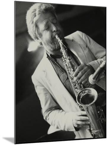 Saxophonist Geoff Simkins Playing at the Fairway, Welwyn Garden City, Hertfordshire, 28 April 1991-Denis Williams-Mounted Photographic Print