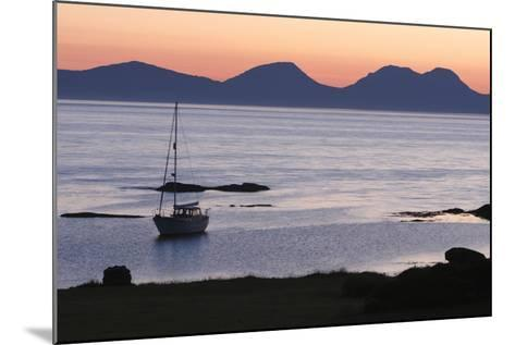 Sunset over Jura Seen from Kintyre, Argyll and Bute, Scotland-Peter Thompson-Mounted Photographic Print