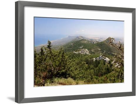 View from Kantara Castle, North Cyprus-Peter Thompson-Framed Art Print
