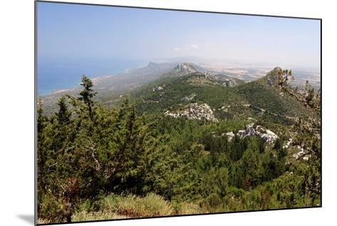 View from Kantara Castle, North Cyprus-Peter Thompson-Mounted Photographic Print