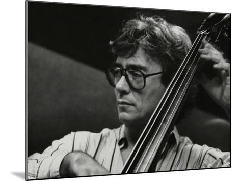 Terry Davies Playing Double Bass at the Fairway, Welwyn Garden City, Hertfordshire, 16 June 1991-Denis Williams-Mounted Photographic Print