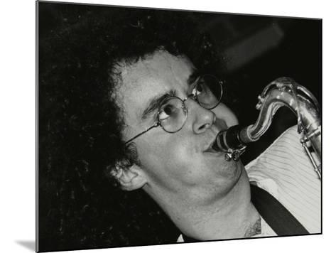 Saxophonist Julian Arguelles Playing at the Fairway, Welwyn Garden City, Hertfordshire, 26 May 1991-Denis Williams-Mounted Photographic Print