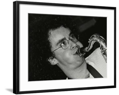 Saxophonist Julian Arguelles Playing at the Fairway, Welwyn Garden City, Hertfordshire, 26 May 1991-Denis Williams-Framed Art Print