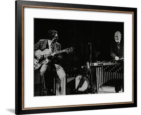 Tal Farlow (Guitar) and Red Norvo (Vibraphone), Performing at Wallingford, Oxfordshire, 1981-Denis Williams-Framed Art Print
