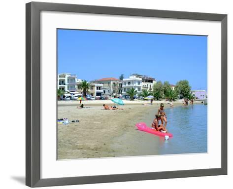 Beach, Rethymnon, Crete, Greece-Peter Thompson-Framed Art Print
