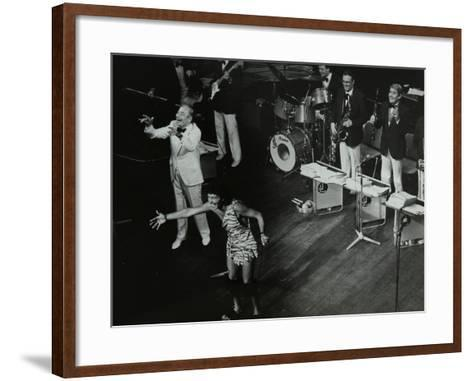 Joe Loss (Left) on Stage with His Orchestra at the Forum Theatre, Hatfield, Hertfordshire, 1986-Denis Williams-Framed Art Print