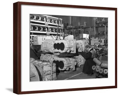The Stores at Duckmanton Colliery Near Chesterfield, 1962-Michael Walters-Framed Art Print