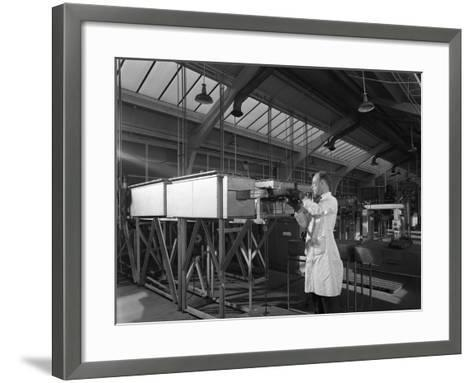 Tungsten Carbide Furnace Being Loaded, Edgar Allen Steel Co, Sheffield, South Yorkshire, 1962-Michael Walters-Framed Art Print