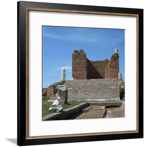 The Remains of the Capitol of Ostia, Romes Port, 2nd Century-CM Dixon-Framed Art Print