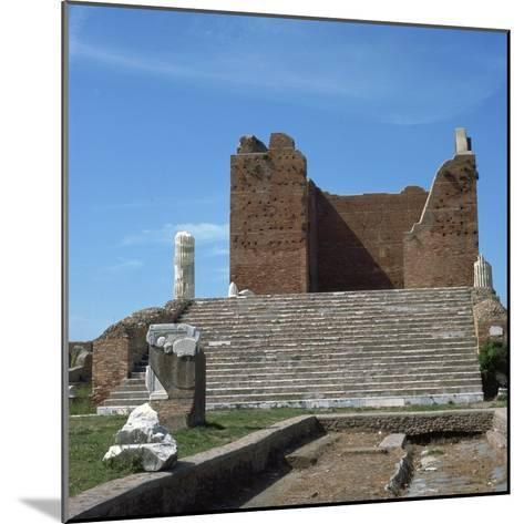 The Remains of the Capitol of Ostia, Romes Port, 2nd Century-CM Dixon-Mounted Photographic Print