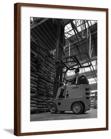 A Clark Forklift Truck, Spillers Animal Foods, Gainsborough, Lincolnshire, 1962-Michael Walters-Framed Art Print