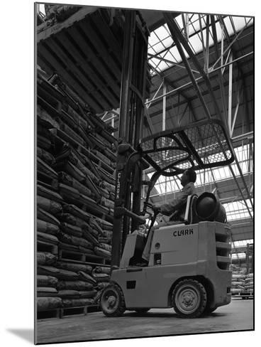A Clark Forklift Truck, Spillers Animal Foods, Gainsborough, Lincolnshire, 1962-Michael Walters-Mounted Photographic Print