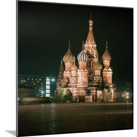 St Basils Cathedral at Night-CM Dixon-Mounted Photographic Print