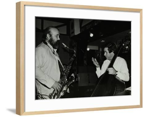 Don Weller and Chris Laurence Playing at the Bell, Codicote, Hertfordshire, 1980-Denis Williams-Framed Art Print