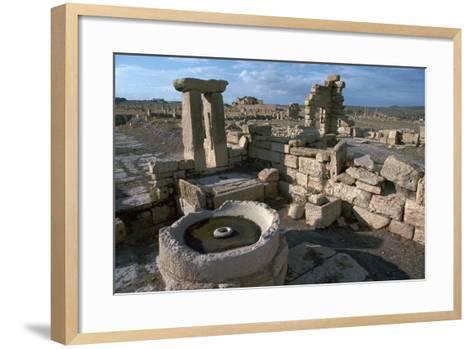 Roman Olive Presses in the City of Sufetula-CM Dixon-Framed Art Print