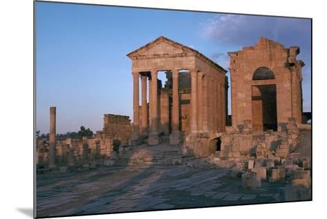 Temples in the Forum of Sufetula, 2nd Century-CM Dixon-Mounted Photographic Print