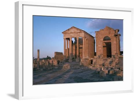 Temples in the Forum of Sufetula, 2nd Century-CM Dixon-Framed Art Print