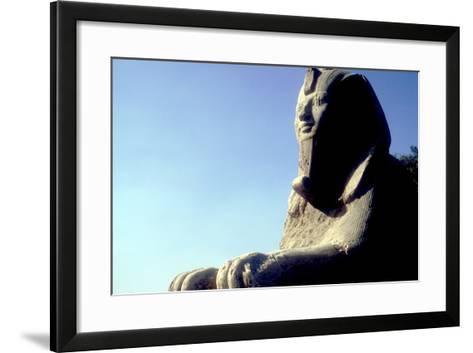Alabaster Sphinx, Memphis, Egypt, 18th or 19th Dynasty, C14th-13th Century Bc-CM Dixon-Framed Art Print