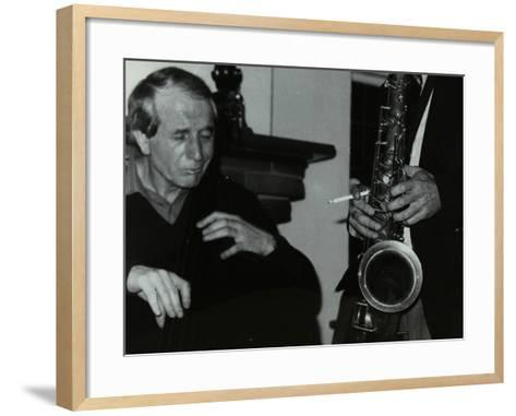 Phil Bates and the Tenor Saxophone of Spike Robinson at the Bell, Codicote, Hertfordshire, 1986-Denis Williams-Framed Art Print