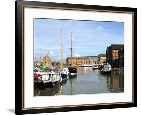Gloucester Docks, Gloucestershire-Peter Thompson-Framed Art Print