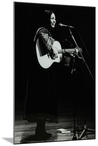 American Folk Musician Julie Felix on Stage at the Forum Theatre, Hatfield, Hertfordshire, 1979-Denis Williams-Mounted Photographic Print