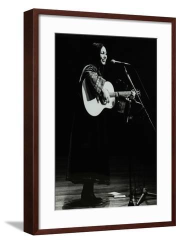 American Folk Musician Julie Felix on Stage at the Forum Theatre, Hatfield, Hertfordshire, 1979-Denis Williams-Framed Art Print